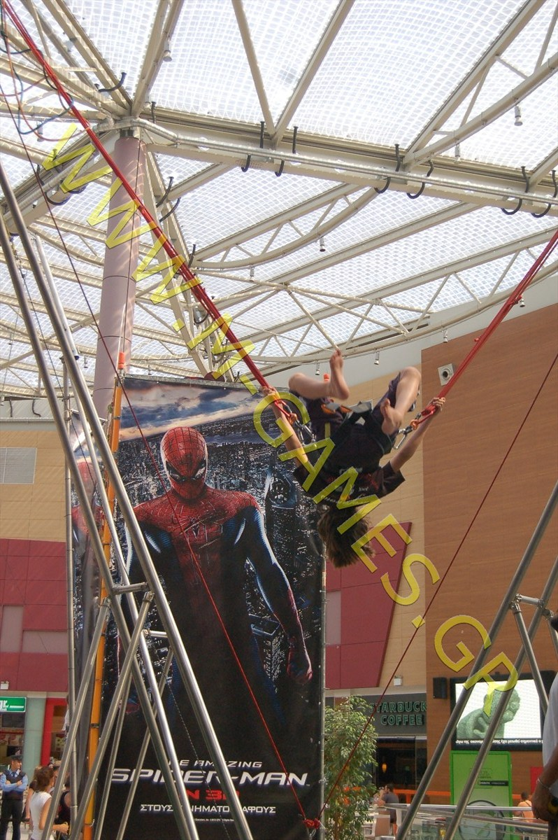 the amazing spider man-bungee trampoline-2