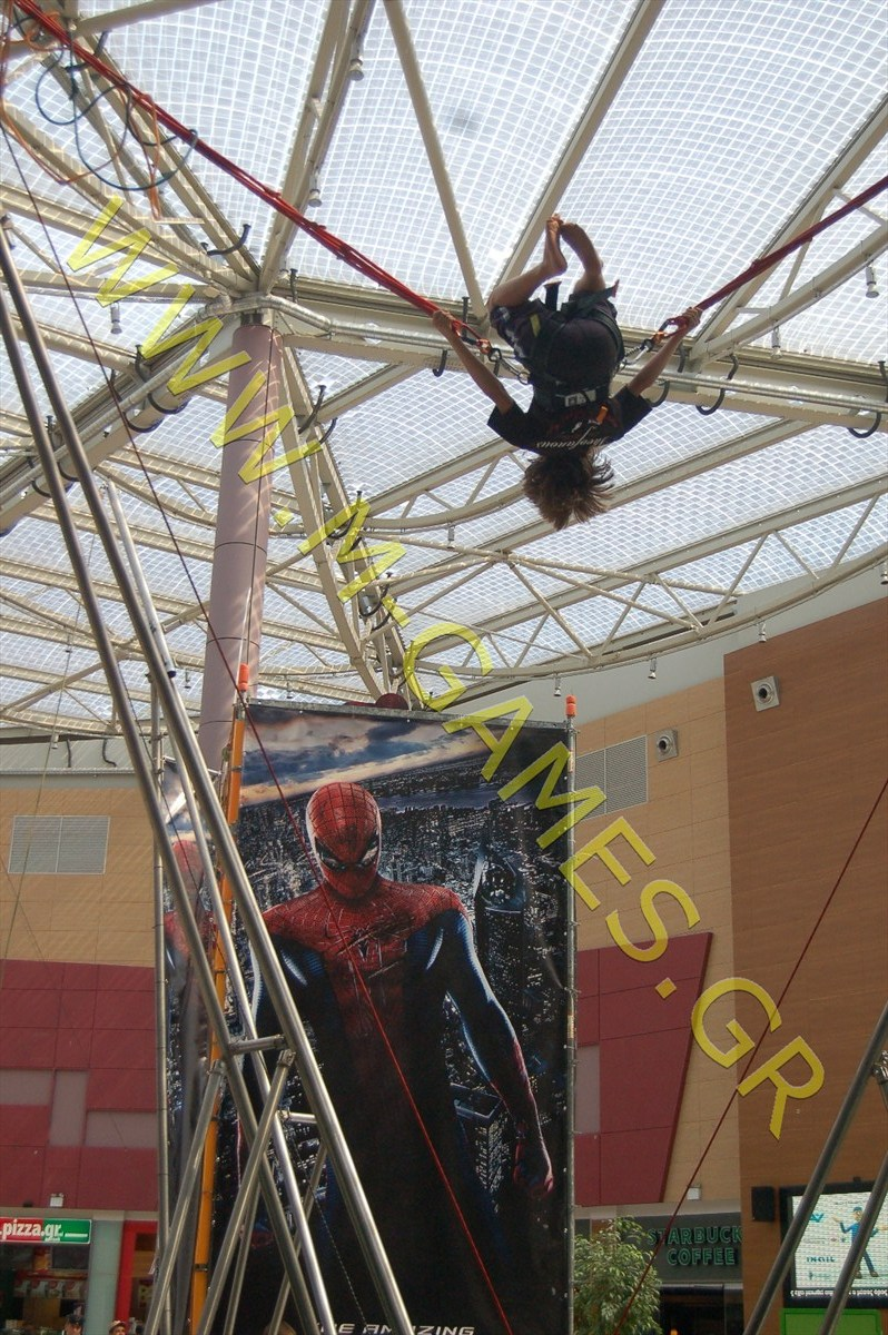 the amazing spider man-bungee trampoline-3